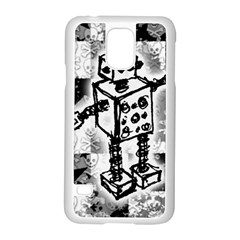 Sketched Robot Samsung Galaxy S5 Case (White)