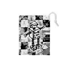 Sketched Robot Drawstring Pouch (Small)