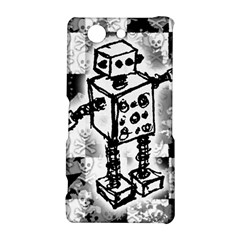 Sketched Robot Sony Xperia Z3 Compact Hardshell Case