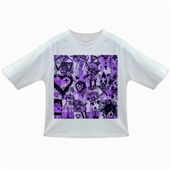 Purple Scene Kid Sketches Baby T Shirt