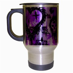 Purple Scene Kid Sketches Travel Mug (silver Gray)