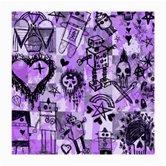Purple Scene Kid Sketches Glasses Cloth (medium, Two Sided)