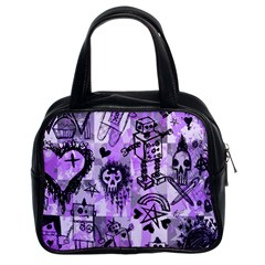 Purple Scene Kid Sketches Classic Handbag (two Sides)