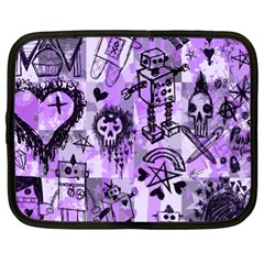 Purple Scene Kid Sketches Netbook Sleeve (xl)