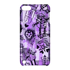 Purple Scene Kid Sketches Apple Ipod Touch 5 Hardshell Case With Stand