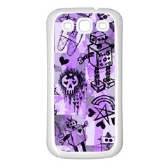 Purple Scene Kid Sketches Samsung Galaxy S3 Back Case (white)