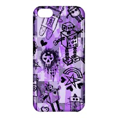 Purple Scene Kid Sketches Apple Iphone 5c Hardshell Case