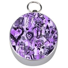 Purple Scene Kid Sketches Silver Compass