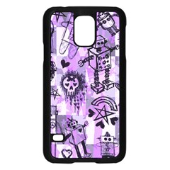 Purple Scene Kid Sketches Samsung Galaxy S5 Case (black)