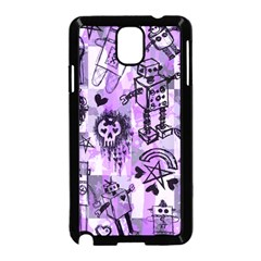 Purple Scene Kid Sketches Samsung Galaxy Note 3 Neo Hardshell Case (Black)