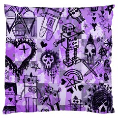 Purple Scene Kid Sketches Standard Flano Cushion Case (Two Sides)