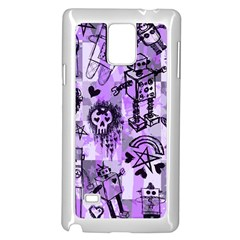 Purple Scene Kid Sketches Samsung Galaxy Note 4 Case (White)
