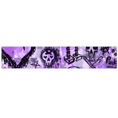 Purple Scene Kid Sketches Flano Scarf (Large)
