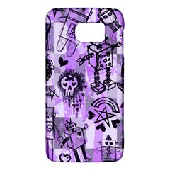 Purple Scene Kid Sketches Samsung Galaxy S6 Hardshell Case