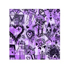 Purple Scene Kid Sketches Small Satin Scarf (Square)