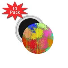 Colorful Paint Spots 1 75  Magnet (10 Pack)