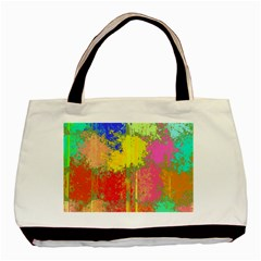Colorful Paint Spots Basic Tote Bag (two Sides)