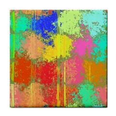 Colorful Paint Spots Face Towel