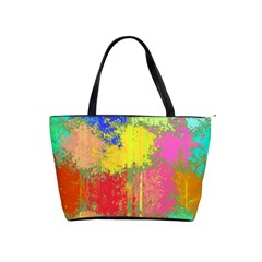 Colorful Paint Spots Classic Shoulder Handbag