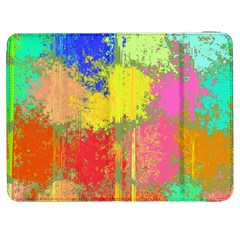 Colorful paint spots Samsung Galaxy Tab 7  P1000 Flip Case