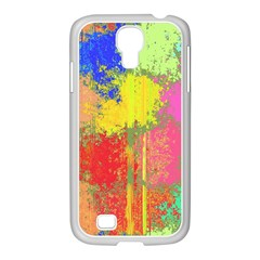Colorful Paint Spots Samsung Galaxy S4 I9500/ I9505 Case (white)