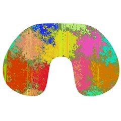 Colorful paint spots Travel Neck Pillow