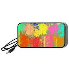 Colorful Paint Spots Portable Speaker