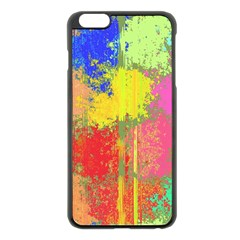 Colorful paint spots Apple iPhone 6 Plus Black Enamel Case