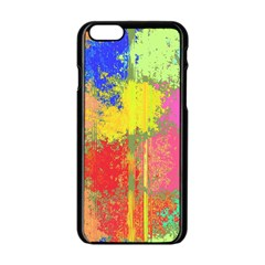 Colorful paint spots Apple iPhone 6 Black Enamel Case