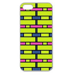 Pink,green,blue Rectangles Pattern Apple Seamless Iphone 5 Case (clear)