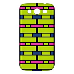 Pink,green,blue Rectangles Pattern Samsung Galaxy Mega 5 8 I9152 Hardshell Case