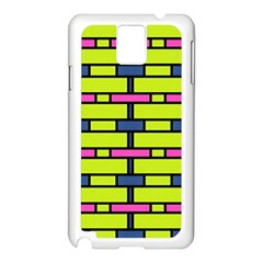 Pink,green,blue Rectangles Pattern Samsung Galaxy Note 3 N9005 Case (white)
