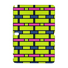 Pink,green,blue Rectangles Pattern Samsung Galaxy Note 10 1 (p600) Hardshell Case