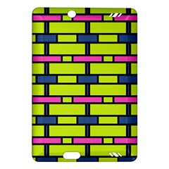 Pink,green,blue Rectangles Pattern Kindle Fire Hd (2013) Hardshell Case