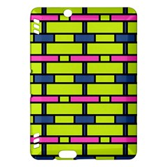 Pink,green,blue Rectangles Pattern Kindle Fire Hdx Hardshell Case