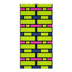 Pink green blue rectangles pattern	Shower Curtain 36  x 72