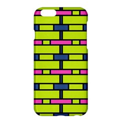 Pink green blue rectangles pattern	Apple iPhone 6 Plus Hardshell Case