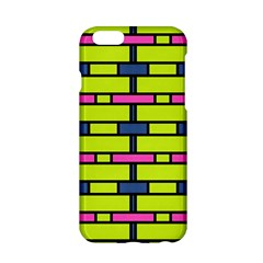 Pink green blue rectangles pattern Apple iPhone 6 Hardshell Case