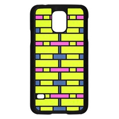 Pink Green Blue Rectangles Pattern	samsung Galaxy S5 Case