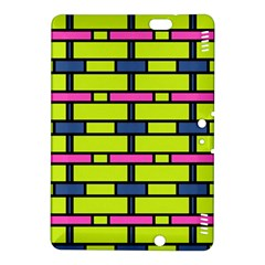 Pink green blue rectangles patternKindle Fire HDX 8.9  Hardshell Case