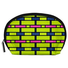 Pink green blue rectangles pattern Accessory Pouch