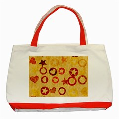 Shapes On Vintage Paper Classic Tote Bag (red)