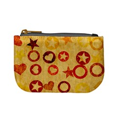 Shapes On Vintage Paper Mini Coin Purse