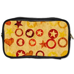 Shapes On Vintage Paper Toiletries Bag (one Side)