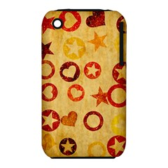 Shapes On Vintage Paper Apple Iphone 3g/3gs Hardshell Case (pc+silicone)
