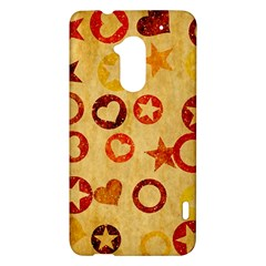 Shapes on vintage paper HTC One Max (T6) Hardshell Case