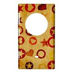 Shapes on vintage paper Nokia Lumia 1020 Hardshell Case