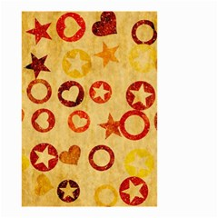 Shapes On Vintage Paper Small Garden Flag