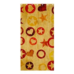 Shapes on vintage paper	Shower Curtain 36  x 72
