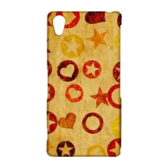Shapes on vintage paper Sony Xperia Z2 Hardshell Case
